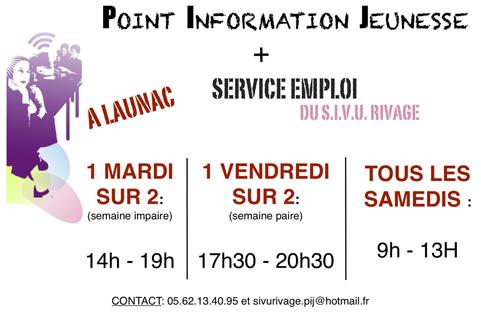SIVU Rivage Service Emploi Mairie de Launac