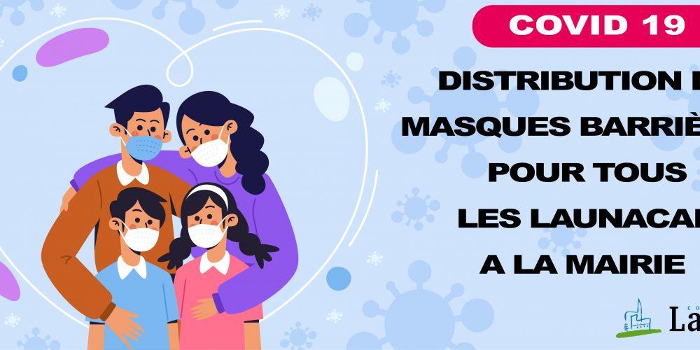 Distribution de masques à la Mairie de Launac