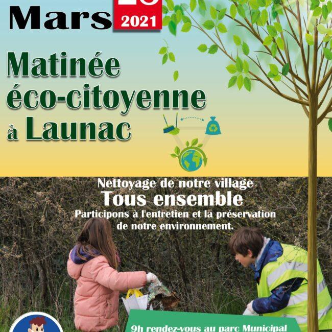 Matinée éco-citoyenne à Launac