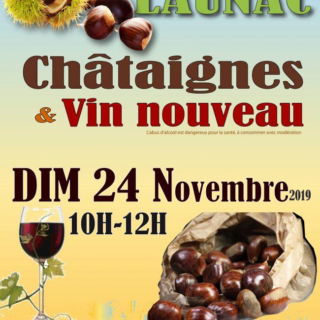 Châtaignes & vin nouveau au Marché