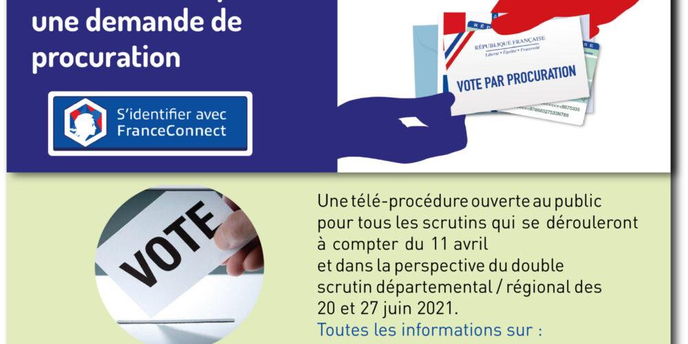 Un nouveau dispositif pour voter : la procuration en ligne